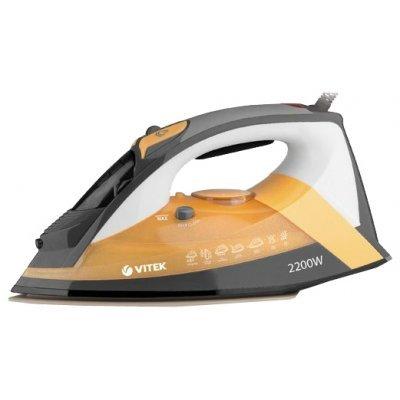 Утюг Vitek VT-1208 желтый (VT-1208 (Y))Утюги Vitek<br>утюг<br>мощность 2200 Вт<br>керамическая подошва<br>мощный паровой удар<br>автоматическое отключение<br>мощность подачи пара до 30 г/мин<br>паровой удар<br>вертикальное отпаривание<br>