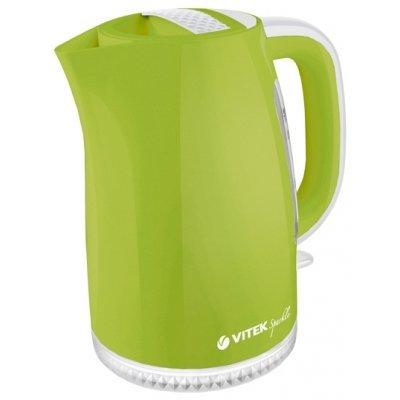 Электрический чайник Vitek VT-1175 зеленый (VT-1175 (G))Электрические чайники Vitek<br>чайник<br>объем 1.7 л<br>мощность 2200 Вт<br>закрытая спираль<br>установка на подставку в любом положении<br>пластиковый корпус<br>индикация включения<br>