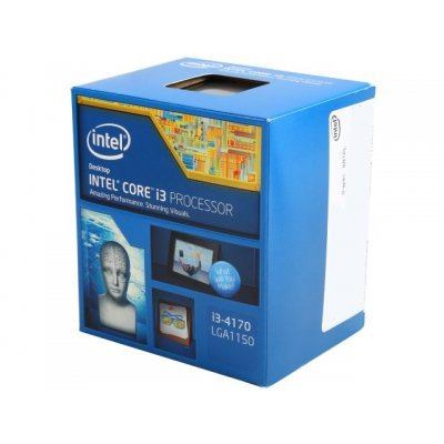 Процессор Intel Core i3-4170 Haswell (3700MHz, LGA1150, L3 3072Kb) Box (BX80646I34170 S R1PL)Процессоры Intel<br>Процессор Intel Original Core i3 4170 Soc-1150 (BX80646I34170 S R1PL) (3.7GHz/Intel HD Graphics 4400) Box<br>