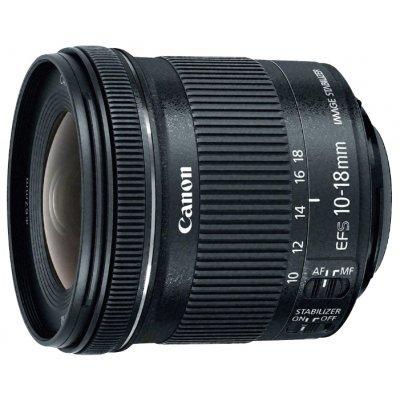 Объектив для фотоаппарата Canon EF-S 10-18мм F/4.5-5.6 (9519B005)Объективы для фотоаппарата Canon<br>широкоугольный Zoom-объектив<br>адаптирован для видеосъемки<br>крепление Canon EF-S<br>для неполнокадровых фотоаппаратов<br>встроенный стабилизатор изображения<br>автоматическая фокусировка<br>минимальное расстояние фокусировки 0.22 м<br>размеры (DхL): 74.6x72 мм<br>вес: 240 г<br>