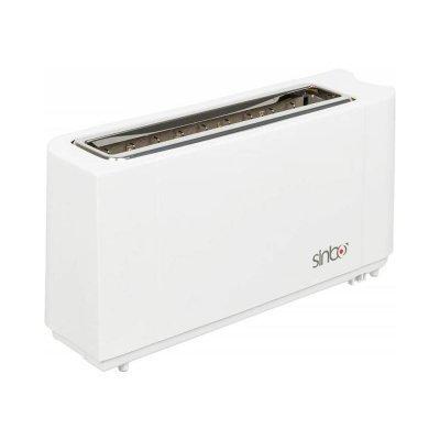 Тостер Sinbo ST 2422 (ST 2422)Тостеры Sinbo<br>мощность 900Вт, отделений- 1, режимов- 1, степеней обжаривания- 7, лоток для крошек, автоцентрирование тостов, отсек для сетевого шнура, цвет  белый<br>