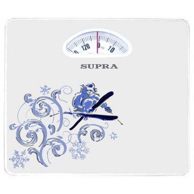 Весы Supra BSS-4060 белый/рисунок (BSS-4060 белый/рисунок)Весы Supra<br>механические напольные весы<br>платформа из пластика<br>нагрузка до 130 кг<br>