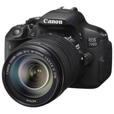 Цифровая фотокамера Canon EOS 700D KIT 18Mpix EF-S 18-55mm (8596B095)Цифровые фотокамеры Canon<br>Зеркальный Фотоаппарат Canon EOS 700D черный 18Mpix EF-S 18-55mm f/3.5-5.6 DC III 3 1080p Full HD SD Li-ion (с объективом)<br>