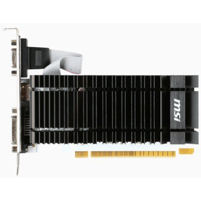 Видеокарта ПК MSI GeForce GT 730 902Mhz PCI-E 2.0 2048Mb 1600Mhz 64 bit DVI HDMI HDCP (N730K-2GD3H/LP) видеокарта asus geforce gtx 1060 1620mhz pci e 3 0 6144mb 8208mhz 192 bit dvi hdmi hdcp rog strix gtx1060 o6g gaming