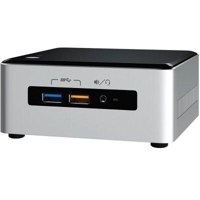 Платформа для тонкого клиента Intel NUC BOXNUC6I3SYK (BOXNUC6I3SYK)Платформы для тонкого клиента Intel<br>Nettop Intel NUC, Intel Core i3 6100U, 2.3 GHz, 2xDDR4 SODIMM (1.2V, up to 2133MHz/32Gb), VGA Intel HD Graphics 520 (miniDP1.2+Full HDMI 4K), 4xUSB3.0, 1x m.2 SSD, GBL, WiFi+BT, noCR, Silver/Black,VESA, powercord EU, IR-port, Kensington Lock, 943211<br>
