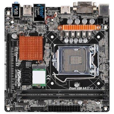 Материнская плата ПК ASRock H110M-ITX/AC (H110M-ITX/AC) материнская плата пк asrock d1800m d1800m