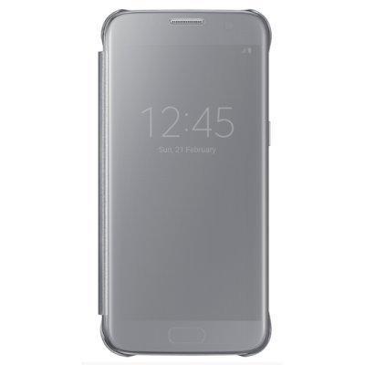 Чехол для смартфона Samsung для Galaxy S7 Clear View Cover серебристый (EF-ZG930CSEGRU) (EF-ZG930CSEGRU)