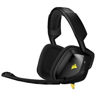 Компьютерная гарнитура Corsair VOID Stereo (CA-9011131-EU)Компьютерные гарнитуры Corsair<br>Гарнитура Corsair Gaming VOID Stereo Gaming, 50mm Neodymium Drivers, Black-Yellow, 4-pole 3.5mm included Y-Adaptor<br>