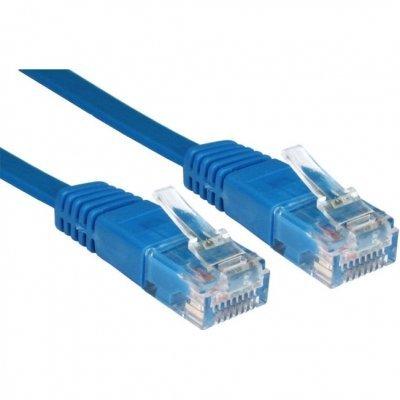 Кабель Patch Cord Greenconnect кат.5e, RJ45, CU, 32 AWG, литой, синий, плоский, 3 m (GC-C5EUFC-3.0m) greenconnect gc u3a03 кабель
