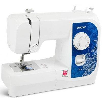 Швейная машина Brother M14 белый (M14)Швейные машины Brother<br>машинка идеально подходит для выполнения основных швейных операций при изготовлении и ремонте одежды, имеет традиционный набор функций, который необходим для шитья<br>