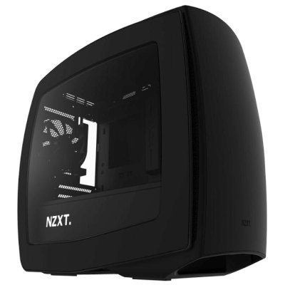 Корпус системного блока NZXT Manta Black (CA-MANTW-M1)Корпуса системного блока NZXT<br>Корпус NZXT MANTA Window черный без БП miniITX 4x120mm 4x140mm 2xUSB3.0 audio bott PSU<br>