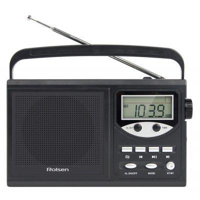 Радиобудильник Rolsen RBM-217 черный (1-RLAM-RBM217BL)Радиобудильники Rolsen<br>Радиобудильник Rolsen RBM-217 черный LCD часы:цифровые AM/FM/УКВ/КВ<br>