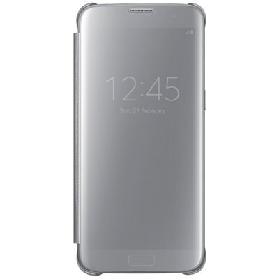 Чехол для смартфона Samsung для Galaxy S7 edge Clear View Cover серебристый (EF-ZG935CSEGRU) (EF-ZG935CSEGRU)Чехлы для смартфонов Samsung<br>Чехол (флип-кейс) Samsung для Samsung Galaxy S7 edge Clear View Cover серебристый (EF-ZG935CSEGRU)<br>