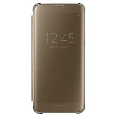 все цены на  Чехол для смартфона Samsung для Galaxy S7 edge Clear View Cover золотистый (EF-ZG935CFEGRU) (EF-ZG935CFEGRU)  онлайн