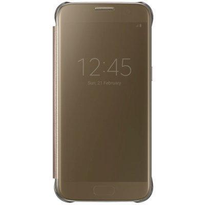 Чехол для смартфона Samsung для Galaxy S7 Clear View Cover золотистый (EF-ZG930CFEGRU) (EF-ZG930CFEGRU)Чехлы для смартфонов Samsung<br>Чехол (флип-кейс) Samsung для Samsung Galaxy S7 Clear View Cover золотистый (EF-ZG930CFEGRU)<br>