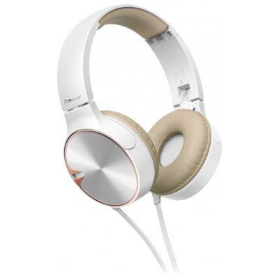 все цены на  Наушники Pioneer SE-MJ722T белый/золотистый (SE-MJ722T-T)  онлайн