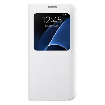 все цены на Чехол для смартфона Samsung для Galaxy S7 edge S View Cover белый (EF-CG935PWEGRU) (EF-CG935PWEGRU) онлайн