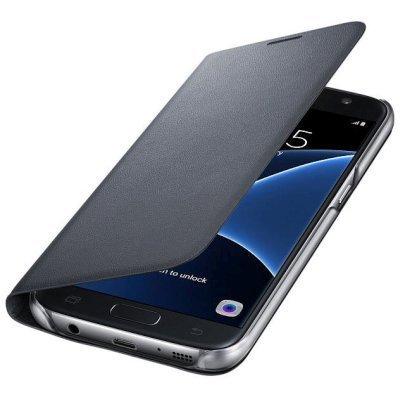 Чехол для смартфона Samsung для Galaxy S7 LED View Cover черный (EF-NG930PBEGRU) (EF-NG930PBEGRU)Чехлы для смартфонов Samsung<br>Чехол (флип-кейс) Samsung для Samsung Galaxy S7 LED View Cover черный (EF-NG930PBEGRU)<br>