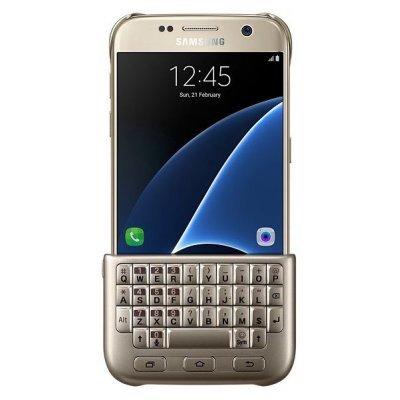 Чехол для смартфона Samsung для Galaxy S7 Keyboard Cover золотистый (EJ-CG930UFEGRU) (EJ-CG930UFEGRU) new for samsung np770z5e 780z5e np780z5e np880z5e 670z5e english keyboard silver with palmrest cover us ba75 04690a
