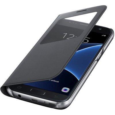 все цены на  Чехол для смартфона Samsung для Galaxy S7 S View Cover черный (EF-CG930PBEGRU) (EF-CG930PBEGRU)  онлайн