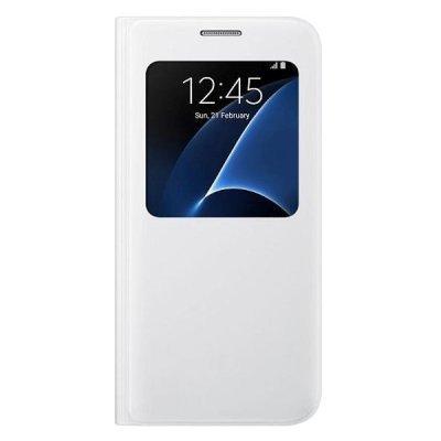 Чехол для смартфона Samsung для Galaxy S7 S View Cover белый (EF-CG930PWEGRU) (EF-CG930PWEGRU) чехол клип кейс samsung protective standing cover great для samsung galaxy note 8 темно синий [ef rn950cnegru]