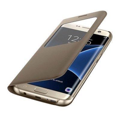Чехол для смартфона Samsung для Galaxy S7 edge S View Cover золотистый (EF-CG935PFEGRU) (EF-CG935PFEGRU)Чехлы для смартфонов Samsung<br>Чехол (флип-кейс) Samsung для Samsung Galaxy S7 edge S View Cover золотистый (EF-CG935PFEGRU)<br>