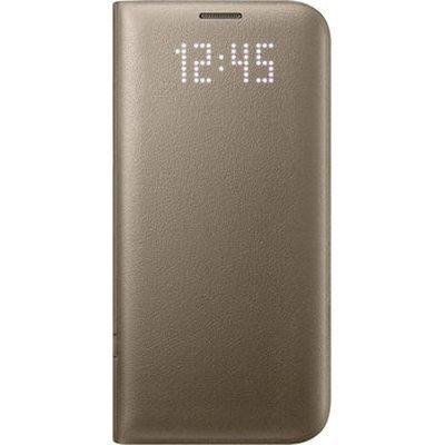 Чехол для смартфона Samsung для Galaxy S7 edge LED View Cover золотистый (EF-NG935PFEGRU) (EF-NG935PFEGRU)Чехлы для смартфонов Samsung<br>Чехол (флип-кейс) Samsung для Samsung Galaxy S7 edge LED View Cover золотистый (EF-NG935PFEGRU)<br>