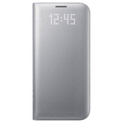 Чехол для смартфона Samsung для Galaxy S7 edge LED View Cover серебристый (EF-NG935PSEGRU) (EF-NG935PSEGRU)Чехлы для смартфонов Samsung<br>Чехол (флип-кейс) Samsung для Samsung Galaxy S7 edge LED View Cover серебристый (EF-NG935PSEGRU)<br>