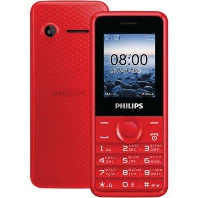 Мобильный телефон Philips Xenium E103 красный (Philips Xenium E103 красный)Мобильные телефоны Philips<br>1,77-дюймовый дисплей с разрешением 128x160 пикселей; поддержка двух SIM-карт; аккумулятор ёмкостью 1 050 мАч<br>