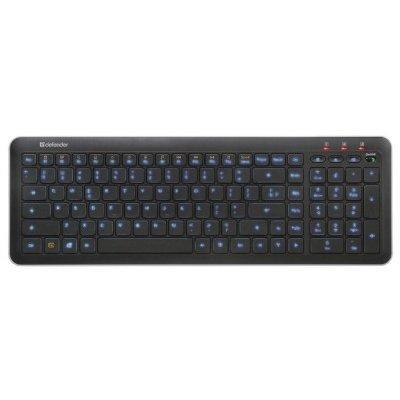 Клавиатура Defender Nova SM-680L Black USB (45680)Клавиатуры Defender<br>Клавиатура Defender Nova SM-680L /слим/ подсветка символов/ 13 доп. функций/ 3 кн. упр звуком/ чёрны<br>