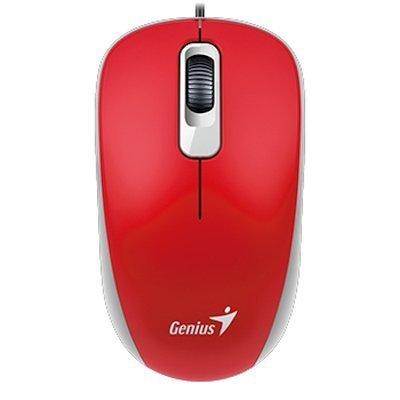 Мышь Genius DX-110 Red (DX-110 Red) мышь проводная genius dx 100x голубой белый usb