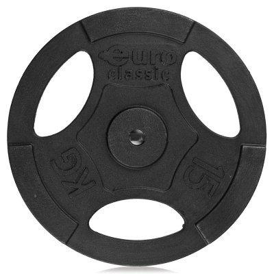 Блин для гантели и штанги Eurosport чугунный EURO-CLASSIC окрашенный d-26 15кг (чугунный EURO-CLASSIC окрашенный d-26 15кг) диск euro classic виниловый 2 кг ek p 26 2