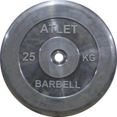 Блин для гантели и штанги Barbell MB ATLET d-26 25кг (MB ATLET d-26 25кг) mb barbell mbevkl 1 25кг