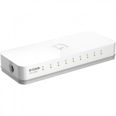 Коммутатор D-Link DGS-1008C/A1A (DGS-1008C/A1A)Коммутаторы D-Link<br>8-port UTP 10/100/1000Mbps Auto-sensing, Stand-alone, Unmanaged  Palm-top Gigabit Ethernet Switch, D-link Green technology,  802.1P QoS support. Manual + External Power supply included. Plastic case<br>
