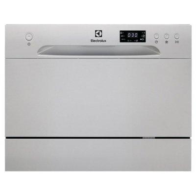 Посудомоечная машина Electrolux ESF2400OS (ESF2400OS)Посудомоечные машины Electrolux<br>компактная настольная посудомоечная машина<br>отдельно стоящая<br>конденсационная сушка<br>расход воды 6.5 л<br>расход электричества 0.61 кВт·ч<br>дисплей<br>уровень шума при работе 50 дБ<br>частичная защита от протечек<br>