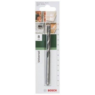 Сверло Bosch универсальное 2609255477 Д=8мм (2609255477)Сверла Bosch<br>длина рабочей зоны: 80мм, хвостовик: прямой, диаметр сверла: 8мм, длина сверла: 120мм<br>