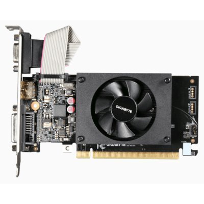 Видеокарта ПК Gigabyte GeForce GT 710 954Mhz PCI-E 2.0 1024Mb 1800Mhz 64 bit DVI HDMI HDCP (GV-N710D3-1GL) видеокарта 2048mb gigabyte gt710 pci e gddr5 64bit hdmi dvi gv n710d5 2gl retail