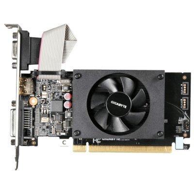 Видеокарта ПК Gigabyte GeForce GT 710 954Mhz PCI-E 2.0 2048Mb 1800Mhz 64 bit DVI HDMI HDCP (GV-N710D3-2GL) видеокарта 2048mb gigabyte geforce gt1030 pci e ddr5 64bit dvi hdmi hdcp gv n1030sl 2gl retail