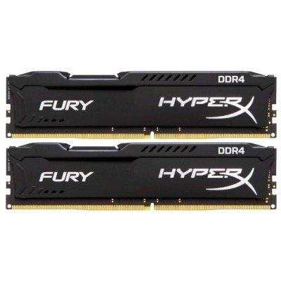 Модуль оперативной памяти ПК Kingston HX424C15FBK2/8 8Gb DDR4 (HX424C15FBK2/8)Модули оперативной памяти ПК Kingston<br>Kingston 8GB 2400MHz DDR4 CL15 DIMM (Kit of 2) HyperX FURY Black<br>