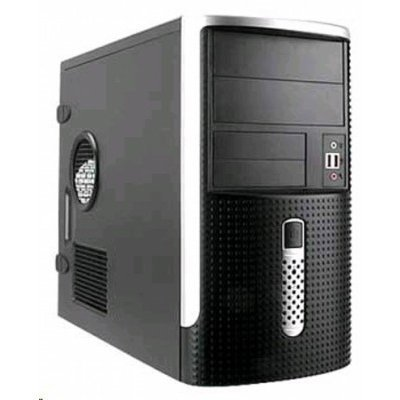 Корпус системного блока Mini Tower InWin EMR-001 Black/Silver 500W 2*USB+AirDuct+Audio mATX (6114182)