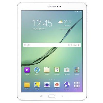 Планшетный ПК Samsung Galaxy Tab S2 9.7 SM-T819 белый (SM-T819NZWESER)Планшетные ПК Samsung<br>9.7 дюймов 2048x1536 (QXGA) sAMOLED<br>Четырехъядерный 1,9 ГГц + Четырехъядерный 1,3 ГГц<br>LTE cat. 6, VoLTE<br>Wi-Fi 802.11 a/b/g/n/ac MIMO (2.4GHz/5GHz)<br>Wi-Fi Direct, BT 4.1 BLE<br>Камера, вспышка<br>8 Мпикс., 2 Мпикс. фронтальная<br>Память<br>3 ГБ оперативной, 32 ГБ пользовательской, слот для карты microSD (до 128 Г ...<br>
