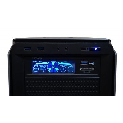 Контроллер системы охлаждения Aerocool Cool Touch-R черный (4713105951554)Контроллеры систем охлаждения Aerocool<br>Контроллер вентиляторов Aerocool Cool Touch-R, чёрный , 1 x USB 3.0, карт-ридер, сенсорный, до 4-х в<br>