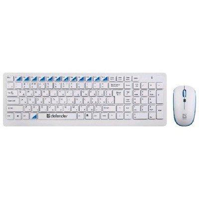 купить Комплект клавиатура+мышь Defender Skyline 895 Nano White USB (45895) недорого