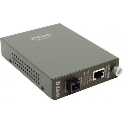 Медиаконвертер D-Link DMC-920T/B9A (DMC-920T/B9A)Медиаконвертеры D-Link<br>10/100BASE-TX to 100BASE-FX Single-mode Fiber ( 20km, SC ) Dual-wavelength Media Converter<br>