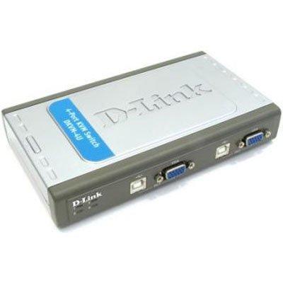 KVM переключатель D-Link DKVM-4U/A6A (DKVM-4U/A6A)KVM переключатели D-Link<br>4 port USB  KVM Switch with 2x cables<br>