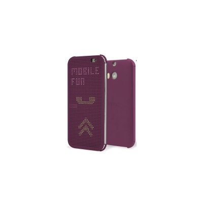 Чехол для смартфона HTC One E8 dot case violet (HC M110) (99H11642-00)Чехлы для смартфонов HTC<br>Для HTC One E8. Фиолетовый. Поликарбонат.<br>