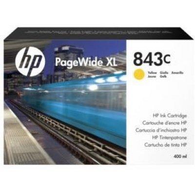 Картридж для струйных аппаратов HP 843C желтый 400ml (C1Q68A)Картриджи для струйных аппаратов HP<br>Cartridge HP 843C с желтыми чернилами 400 мл PageWideXL/PageWide 5000/4x000/8000<br>