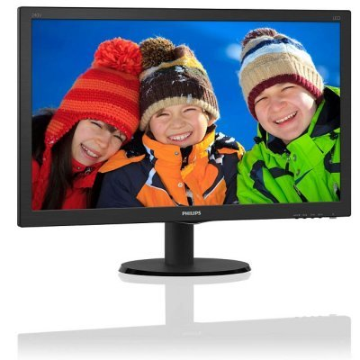 Монитор Philips 23,8 240V5QDAB/01 (240V5QDAB/01)Мониторы Philips<br>23,8 Philips 240V5QDAB 1920x1080 IPS-ADS LED 16:9 5(14)ms VGA DVI-D HDMI 10M:1 178/178 250cd Black.<br>