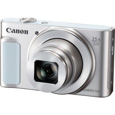 """Цифровая фотокамера Canon PowerShot SX620 HS белый (1074C002)Цифровые фотокамеры Canon<br>КМОП-матрица разрешения 20 Мп формата 1/2.3"""", процессор обработки изображения DIGIC 4+, ЖК-монитор разрешения 921000 точек с диагональю 3""""<br>"""