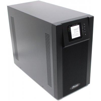 Источник бесперебойного питания Powerman Online 2000 ВА (ONLINE2000)Источники бесперебойного питания Powerman<br>ИБП с двойным преобразованием<br>1-фазное входное напряжение<br>выходная мощность 2000 ВА / 1400 Вт<br>выходных разъемов: 3<br>разъемов с питанием от батареи: 3<br>интерфейсы: RS-2320<br>